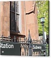 Subway Station In Brooklyn Acrylic Print