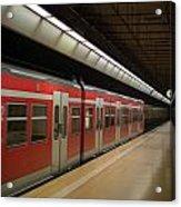 Subway Train At Platform Acrylic Print
