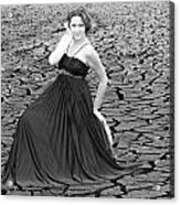 An Image Of Elegance Black And White Acrylic Print