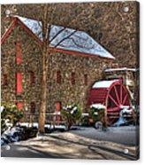 Sudbury Wintery Grist Mill Acrylic Print