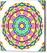 Sudoku Connections White Kaleidoscope Acrylic Print