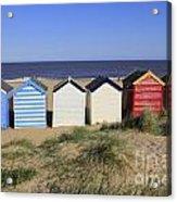 Suffolk Beach Huts Acrylic Print
