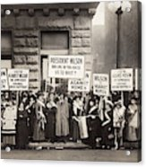Suffrage Protest, 1916 Acrylic Print