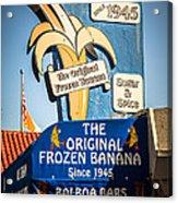 Sugar And Spice Frozen Banana Sign On Balboa Island Acrylic Print