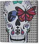Sugar Candy Skull Pattern Acrylic Print