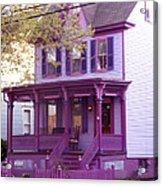 Sugar Plum Purple Victorian Home Acrylic Print
