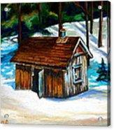 Sugar Shack Quebec Landscape Acrylic Print