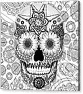 Sugar Skull Bleached Bones - Copyrighted Acrylic Print by Christopher Beikmann