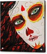 Sugar Skull Acrylic Print by Kip Krause
