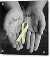 Suicide Hurts Acrylic Print