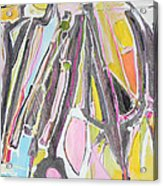 Suits Coats And Ties Hangin In The Closet Acrylic Print