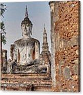 Sukhothai Historical Park - Sukhothai Thailand - 011332 Acrylic Print
