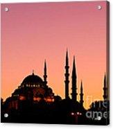 Suleymaniye Sundown 01 Acrylic Print by Rick Piper Photography