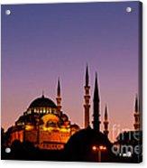 Suleymaniye Sundown 03 Acrylic Print by Rick Piper Photography