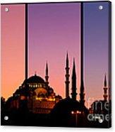 Suleymaniye Sundown Triptych 02 Acrylic Print