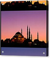 Suleymaniye Sundown Triptych 04 Acrylic Print by Rick Piper Photography