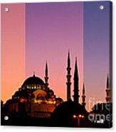 Suleymaniye Sundown Triptych 05 Acrylic Print