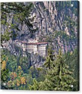 Sumela Monastery In Black Sea Region Of Turkey Acrylic Print