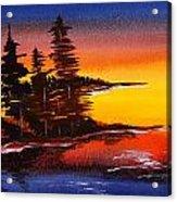 Sumi-e Blue Skies Acrylic Print