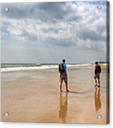 Summer A Beach In The Hamptons Acrylic Print