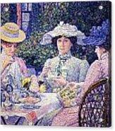Summer Afternoon Tea In The Garden-1901 Acrylic Print