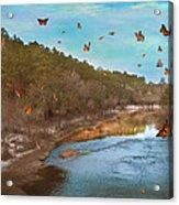 Summer At The River Acrylic Print