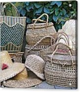Summer Baskets And Hats Acrylic Print