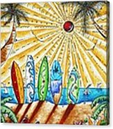 Summer Break By Madart Acrylic Print by Megan Duncanson