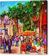 Summer Cafes Acrylic Print