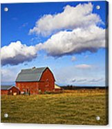 Summer Clouds Over Farm Country I Acrylic Print