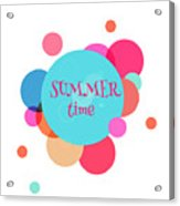 Summer Colorful Background With Text - Acrylic Print