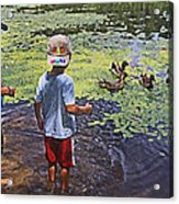 Summer Day At The Pond Acrylic Print