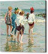 Summer Day Brighton Beach Acrylic Print