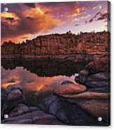 Summer Dells Sunset Acrylic Print
