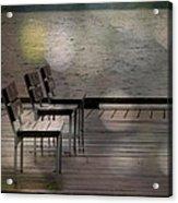 Summer Dock Waterfront Fine Art Photograph Acrylic Print