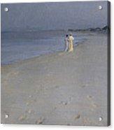 Summer Evening At Skagen Soender Beach Acrylic Print