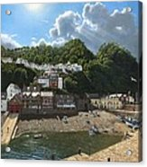Summer Evening Clovelly North Devon Acrylic Print