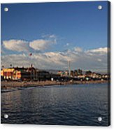 Summer Evenings In Santa Cruz Acrylic Print by Laurie Search