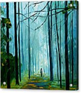 Summer Forest - Palette Knife Oil Painting On Canvas By Leonid Afremov Acrylic Print