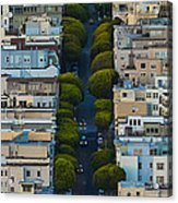 Summer Green On Lombard Street Acrylic Print
