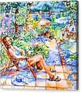 Summer In An Irish Garden  Acrylic Print