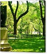 Summer In Central Park Manhattan Acrylic Print