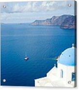 Summer In Santorini - Greece Acrylic Print