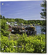 Summer In South Bristol On The Coast Of Maine Acrylic Print