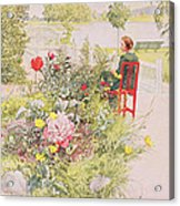 Summer In Sundborn Acrylic Print by Carl Larsson