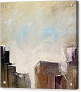 Summer In The City Abstract Geometric Original Painting On Canvas Acrylic Print