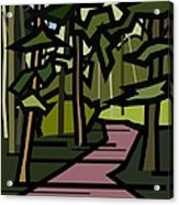 Summer In The Woods Acrylic Print by Kenneth North