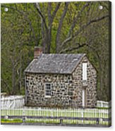 Summer Kitchen In Spring - Colonial Stone Acrylic Print