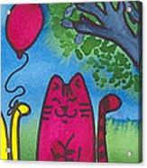 Summer Kittens Acrylic Print