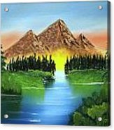 Summer Lake Sunrise Acrylic Print